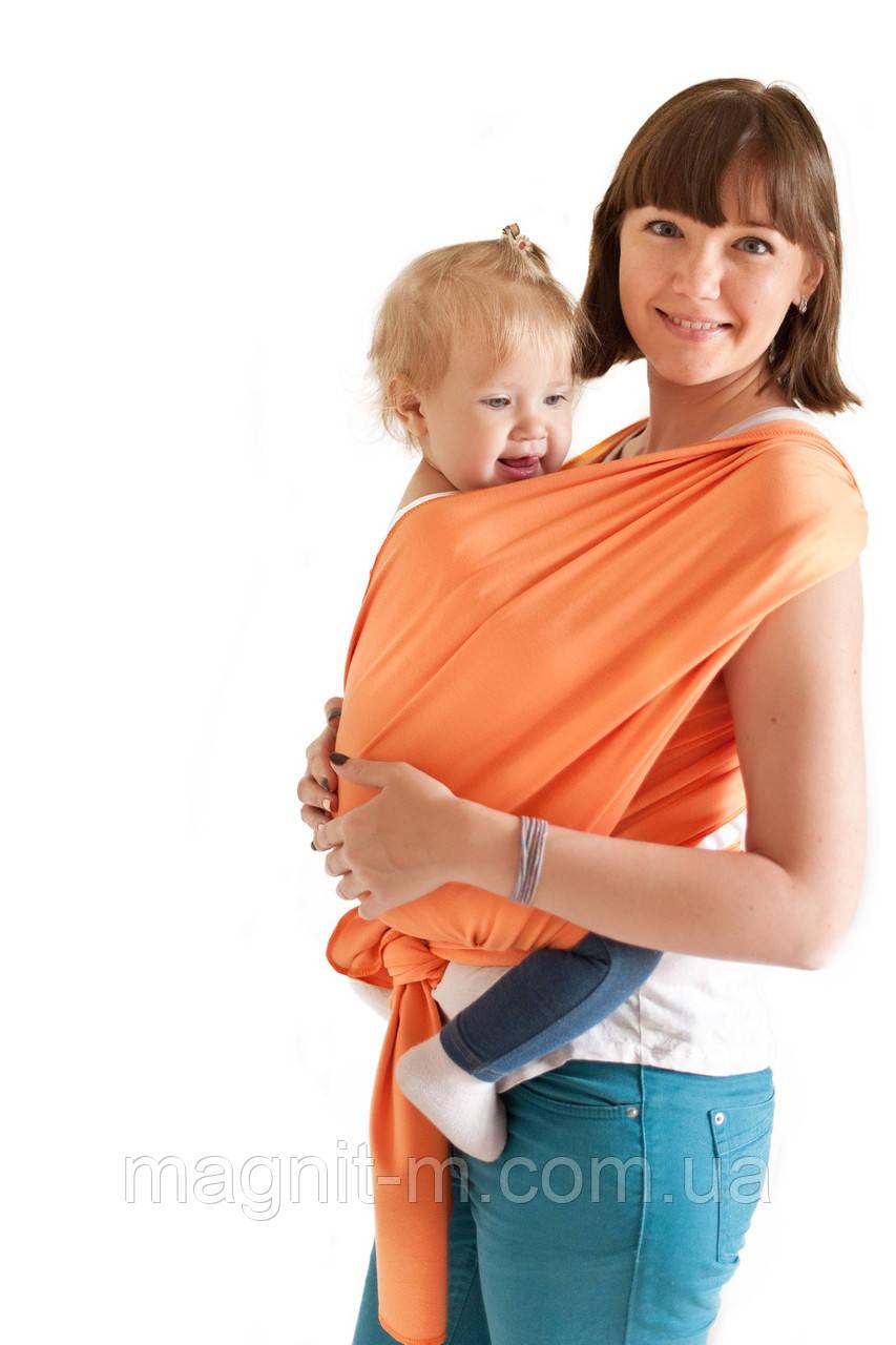 4b0ea38ce533 Слинг-шарф «FOR KIDS» Трикотажный. Персик. — в Категории
