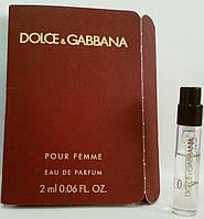 Dolce & Gabbana Pour Femme (пробирка) edр 2ml w оригинал