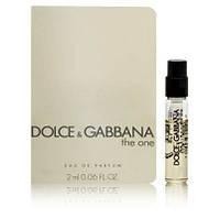 Dolce & Gabbana The One (пробирка) edp 2ml w оригинал