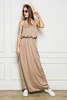 Длинное летние платье в пол из атласа
