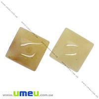 Кабошон нат. камень Кварц желтый, Квадратный, 16х16 мм, 1 шт (KAB-016097)
