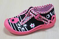 Летние тапочки на девочку, польская текстильная обувь тм 3 F р. 19,20,21