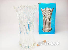 Ваза для цветов BS-250, стекло под хрусталь, 22,5см. Подарочная упаковка