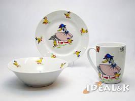 """Детский набор посуды  """" Уточка """" (с новой чашкой)"""