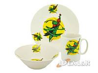 """Детский набор посуды  """"Зелёный кузнечик """""""
