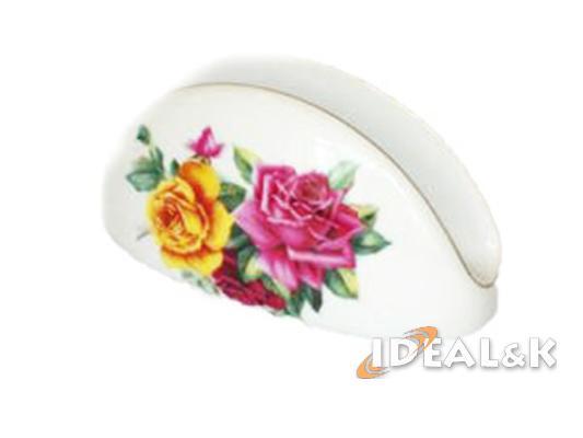 Фарфоровая салфетница SAL-3201 (роза на белом фоне)