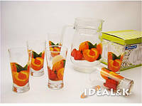 "Кувшин + 6 стаканов ""Абрикос"", 7пр."