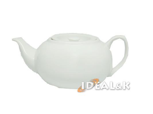 Фарфоровый заварочный чайник, ZK-K белого цвета  500 мл.