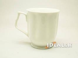 Чайная чашка 400 мл. из костного фарфора MP-05  белого цвета