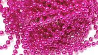 Гирлянда ярко розовых бусинок 5 мм