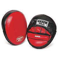 "Лапы боксерские кожаные Green Hill ""SUPER"""