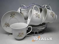 """Чайный сервиз 12-ти предметный  HP- 01 """"Черёмуха"""" (6 чашек +6 блюдец)"""