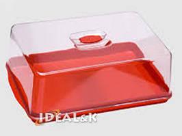 Піднос Прямоугольный с крышкой (пластик)46*32*12см.