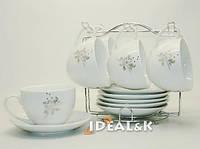 """Чайный сервиз 12-ти предметный  HP- 09 """"Черёмуха""""  (6 чашек +6 блюдец)"""