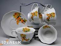 """Чайный сервиз 12-ти предметный  HP- 13 """"Воробушки"""" (6 чашек +6 блюдец)"""
