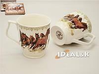 """Набор чашек (2 шт.) MP-05  """"Табун лошадей"""" в подарочной упаковке, Идеал Киев ,Украина"""
