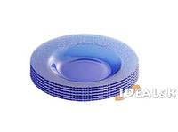 Тарелка 200мм. (синяя) (6шт.)