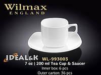 Чайная чашка с блюдцем 200 мл (Wilmax) WL-993003 200 мл