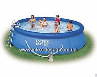 Надувной бассейн intex 56414 (457х91 см. ) + насос-фильтр, лестница, набор для чистки…киев