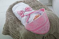 """Трикотажный плед для новорожденных """"Изысканность"""", розовый, фото 1"""