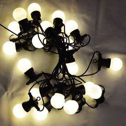 Led гирлянды, белт лайт SL LIGHT шар G50  10 метров 20 ламп нейтральный белый, молочная колба, фото 2