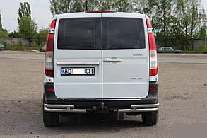 Защита заднего бампера, уголки Double Mercedes Vito 639