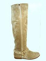 Ботфорты женские низкий каблук