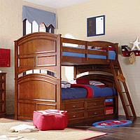 """Двухъярусная кровать """"Шотландец"""" (трансформер) Бук натуральный"""