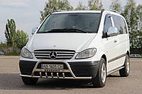 "Кенгурятник ""Усы"" с надписью Mercedes Vito W639"