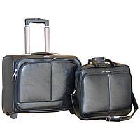 Стильный чемодан с сумкой на колёсах двойка (Black), 510341
