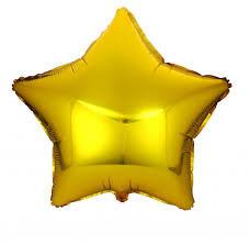 Шар золота зірка 80 см з гелієм