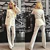 Костюм брюки со стрелками+удлиненный пиджак с поясом, фото 3