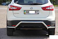Защитная дуга на задний бампер Nissan Qashqai (2014+)