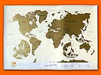 Скретч карта мира 3в1 (Scratch map) со стирающимся слоем