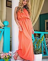 Атласное платье в пол | Federica sk Оранжевый