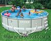 Каркасный бассейн Intex 54470 Интекс 488 х 122 см + насос-фильтр c хлоргенератором, лестница, тент,  киев