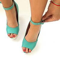 Летние стильные женские комфортные туфли-босоножки Troisrois из натуральной турецкой кожи