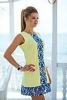 Желтое нарядное летнее Платье Феличе
