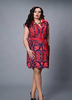 Оригинальное женское летнее платье красного цвета