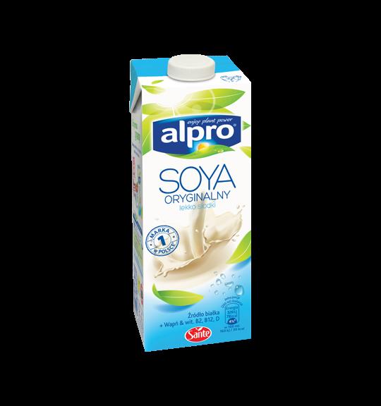 Молоко соевое с низким содержанием сахара Alpro, 1л