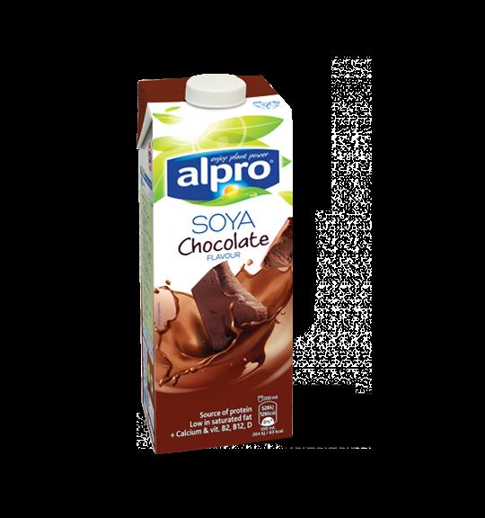 Молоко соевое с шоколадным вкусом Alpro, 1л