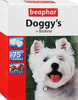 Витамины для шерсти в виде лакомства с биотином Beaphar Doggy's Biotin (Беафар) 75 шт