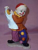"""Фигурка """"Клоун"""" фарфоровая статуэтка итальянской компании Pavone CMS-23/48 , 15см высота"""