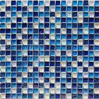 Стеклянная мозаика Progres HCB02 голубая синяя