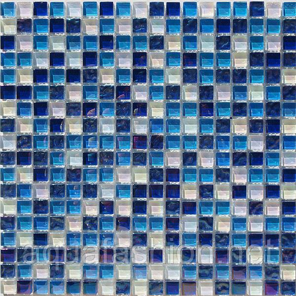 """Стеклянная мозаика Progres HCB02 голубая синяя - Интернет-магазин сантехники """"АкваФэшн"""" в Днепре"""