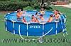 Каркасный бассейн Intex 56942 Интекс 457 х 91 см + насос-фильтр, лестница, тент, подстилка, киев