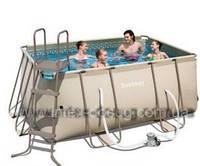 Каркасный ( сборно-разборный) бассейн Bestway Metal Frame Pool 56209, 305х203х122 см + насос-фильтр, фото 1
