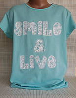 Детская футболка для девочки подростка, 12,14 лет