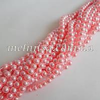 Бусины под жемчуг, керамические, 4мм, цвет св.розовый, 50шт.