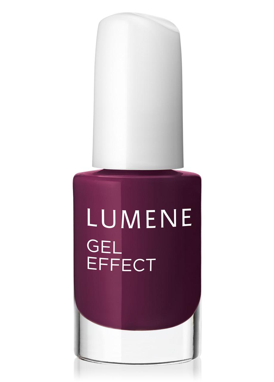 LU Gel Effect - Лак для ногтей гелевый с минералами (09-малиново-бордовый), 5 мл